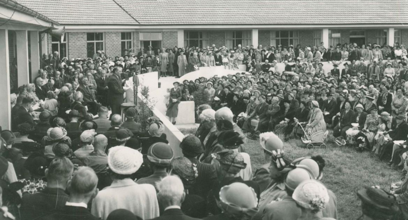 The Peacehaven home official opening in 1954