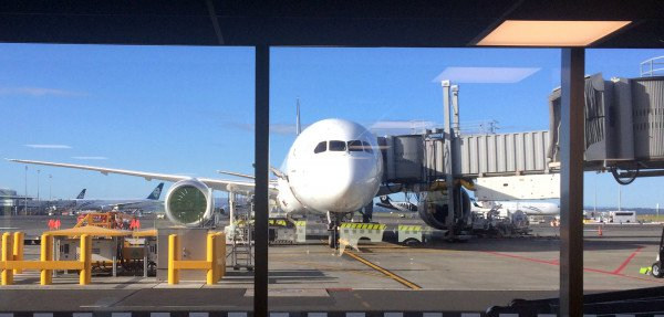 Plane at Auckland airport